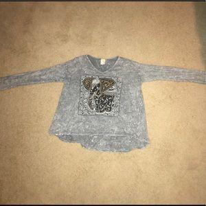 Long Sleeve Gray Elephant Shirt